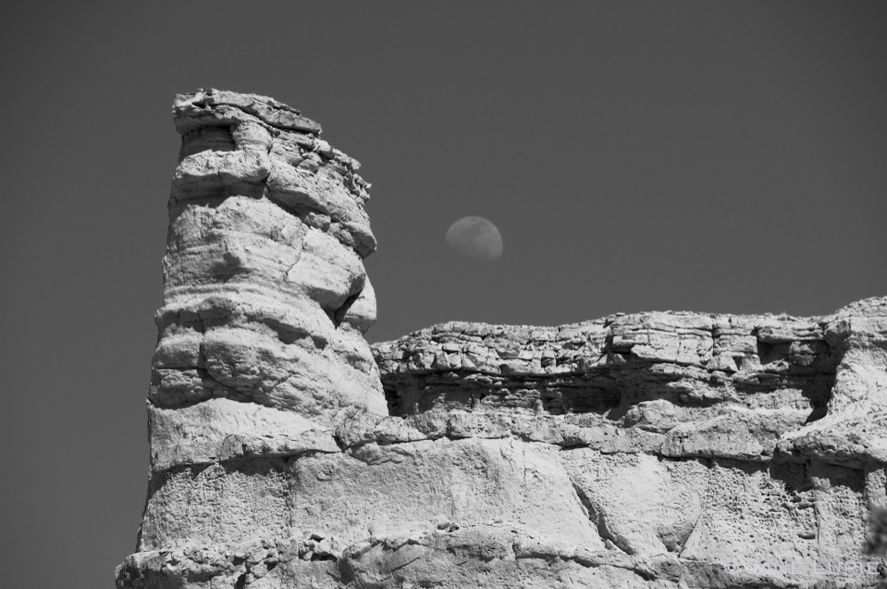 Hoodoo and Moon, Plaza Blanca, NM
