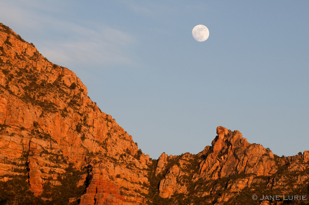Moon Rising Over Red Rocks, Sedona