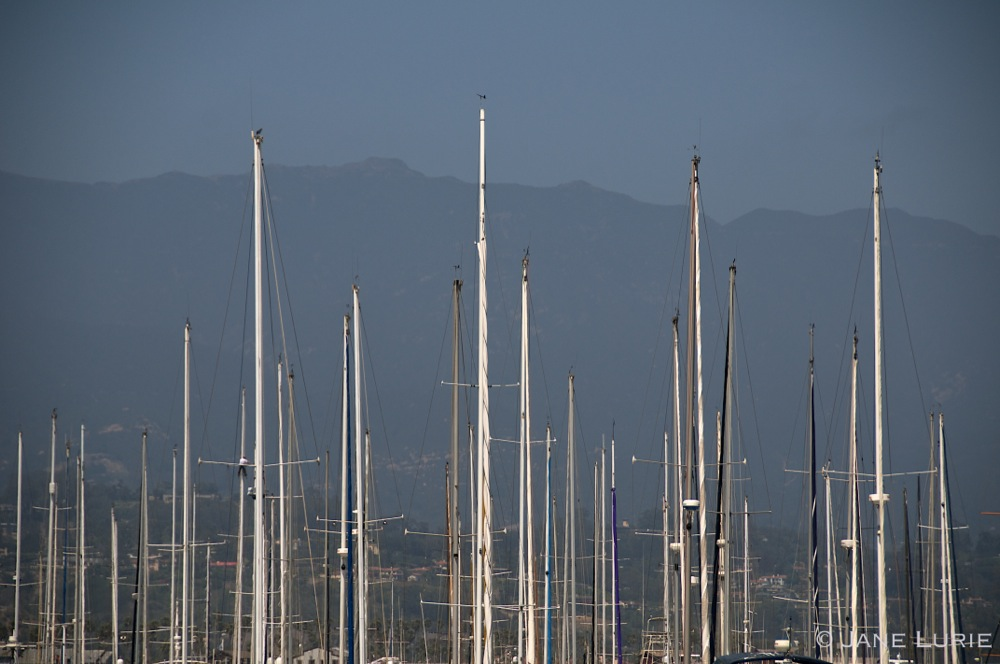 Masts and Mountains. Santa Barbara, CA