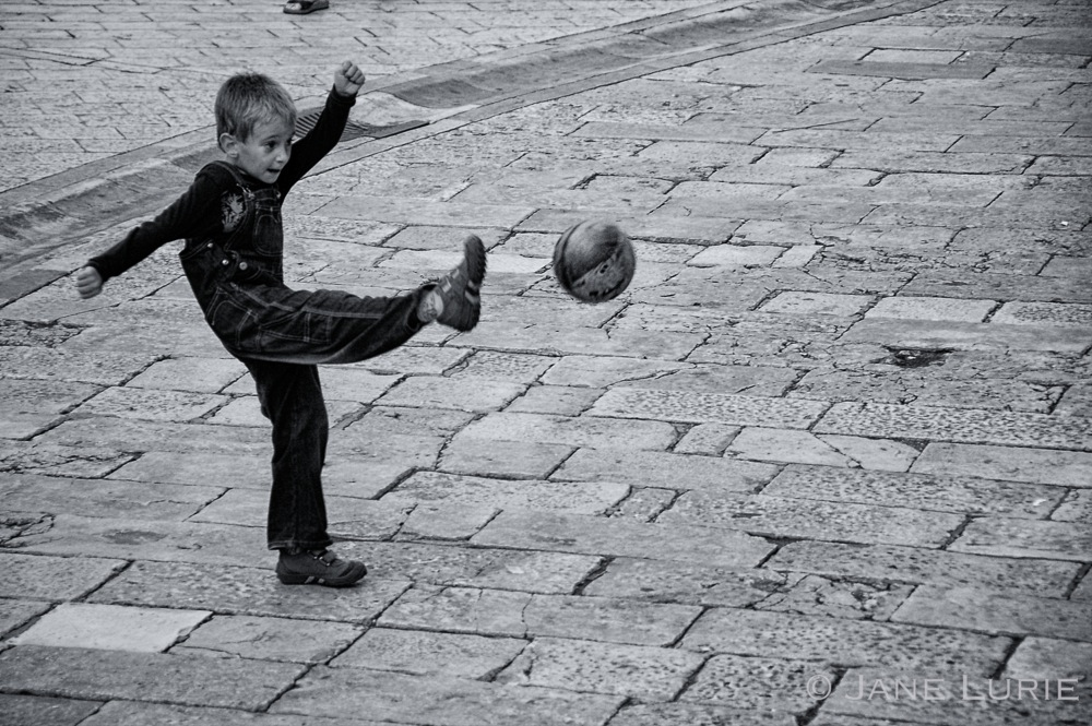 Going For A Goal, Dubrovnik, Croatia
