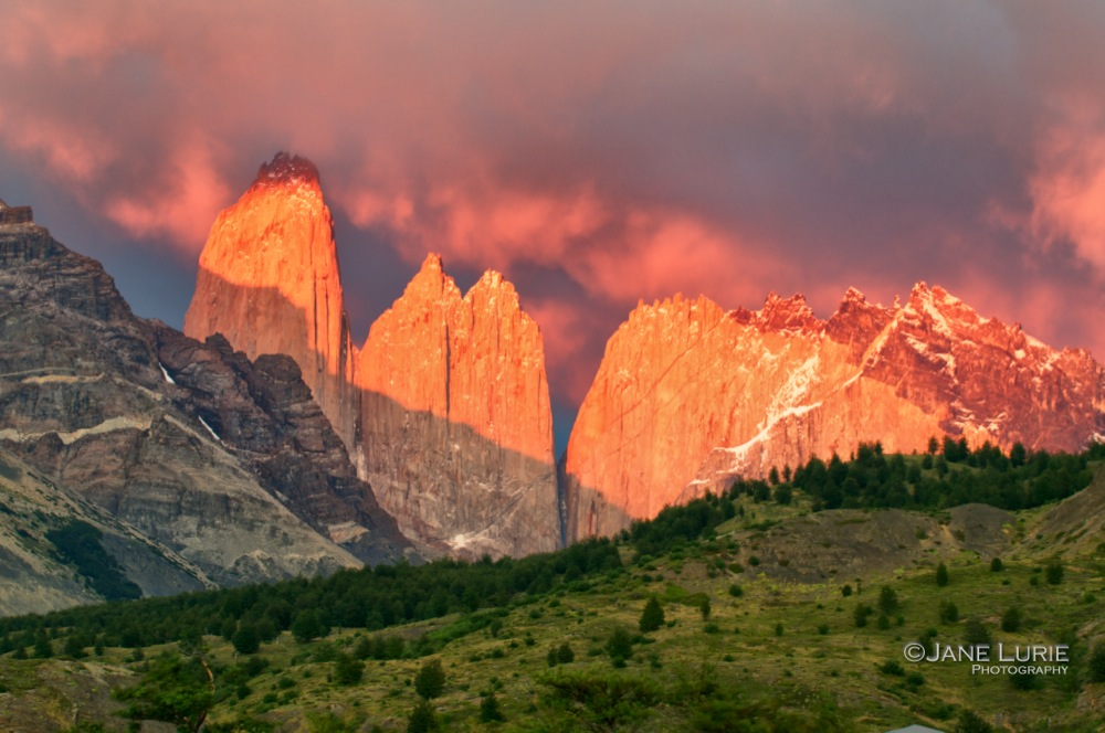Sunrise at the Towers, Torres Del Paine, Chile