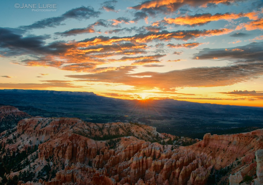 Sunrise and Clouds, Bryce Canyon, Utah
