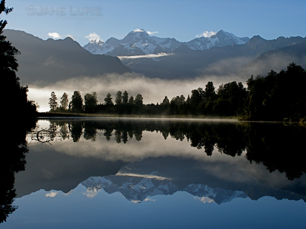 Morning, Lake Matheson, New Zealand