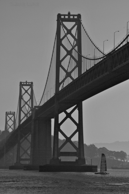 Passing Under, Bay Bridge, San Francisco