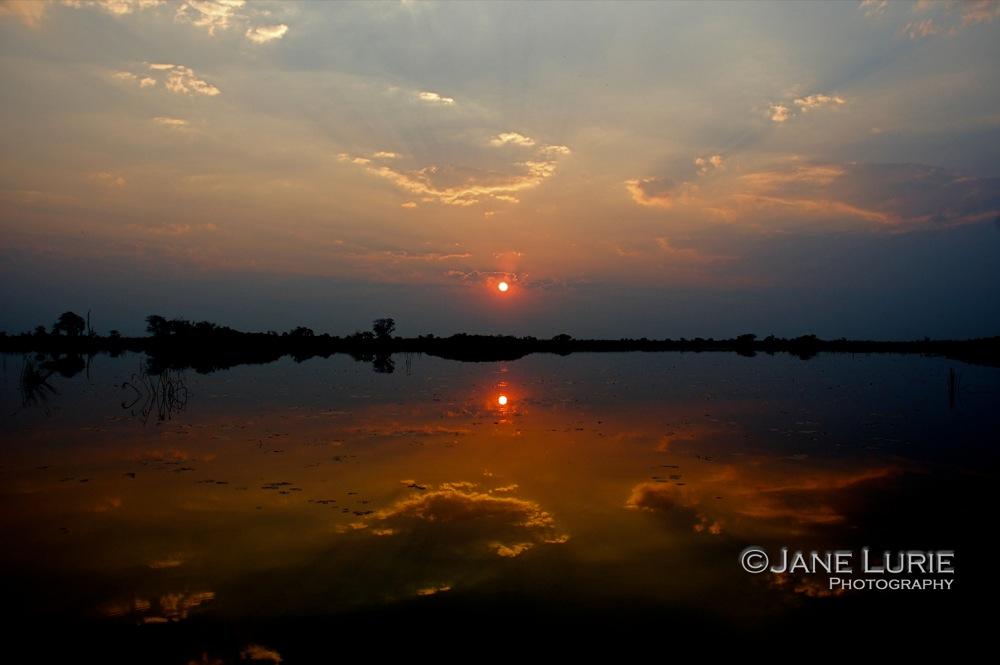 Sunset, Okavanga Delta, Botswana