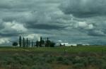 Farm and Clouds, South Dakota