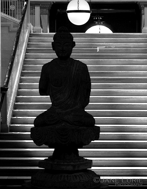 Buddha and Stairs, Art Institute