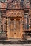 Ancient Door, Banteay Srey Temple, Cambodia