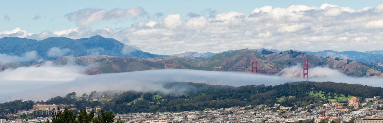 Golden Gate and Fog, Twin Peaks