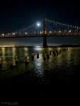 Full Moon over Bay Bridge