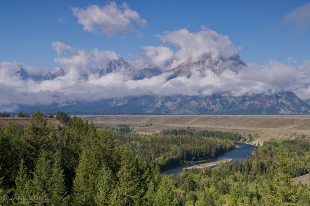 Morning Clouds, Grand Tetons and Snake River
