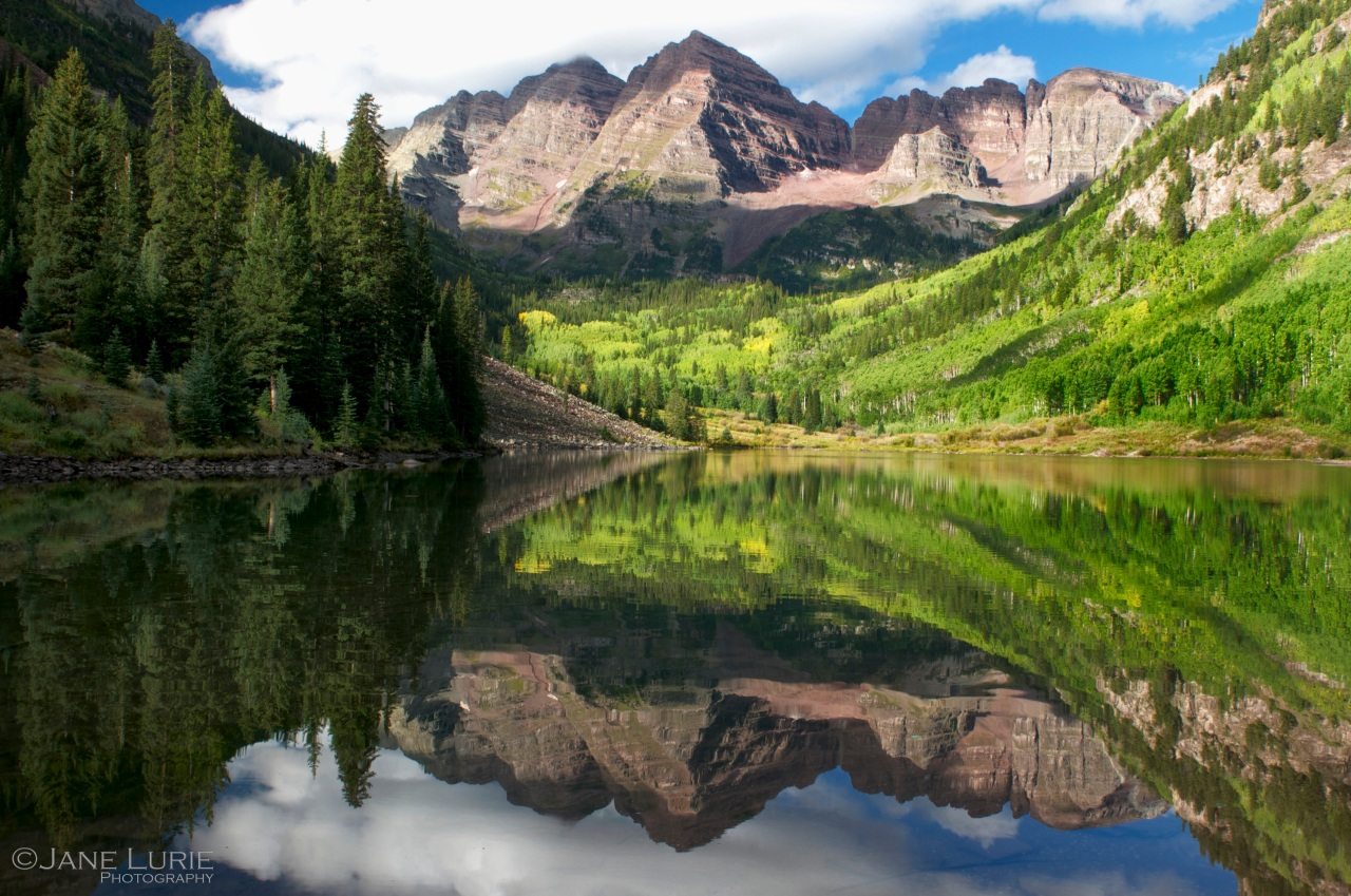 Maroon Bells Reflection, Aspen, Colorado