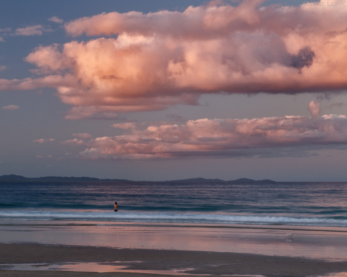 Sunset Swimmer, Byron Bay