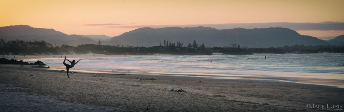 Sunset Salutations, Byron Bay