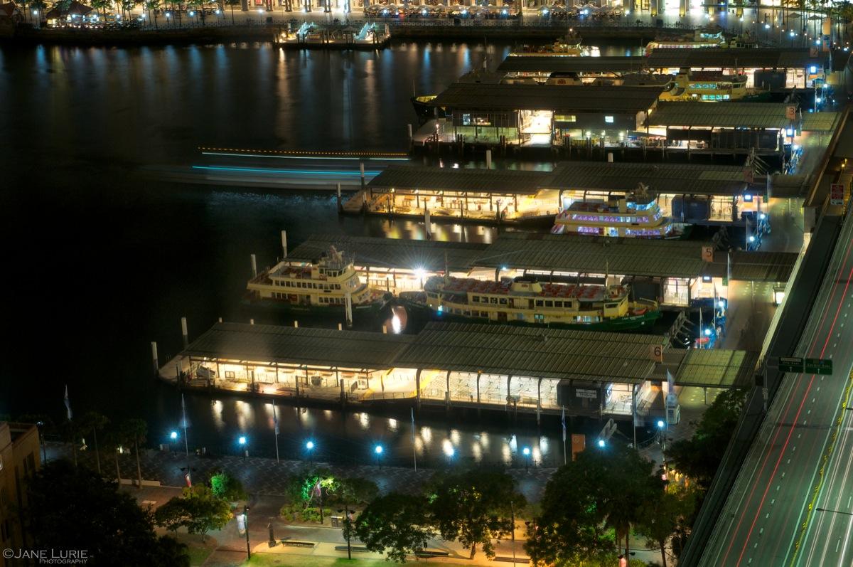 Night Departure, Ferry Terminal, Sydney