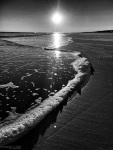 Ocean, Black and White, Beach, Nature