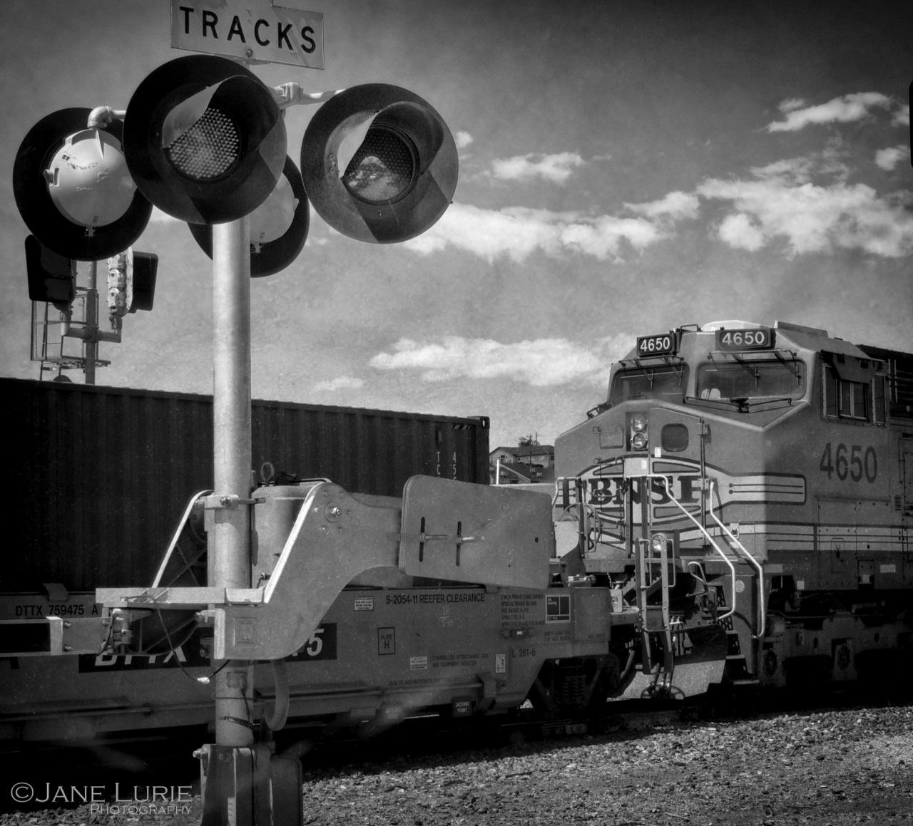 Black and White, Freight Train, Railroad