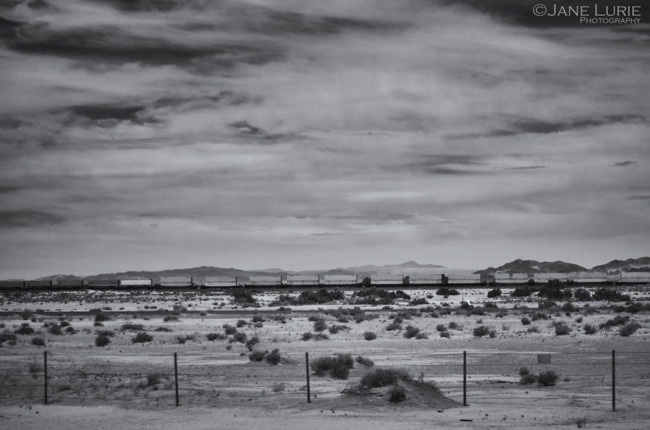 Black and White, Train, Landscape