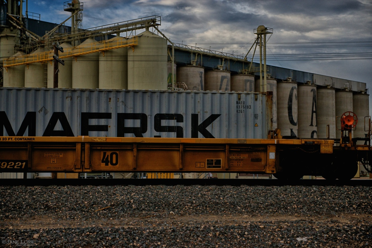 Freight Train, Silos, Tracks