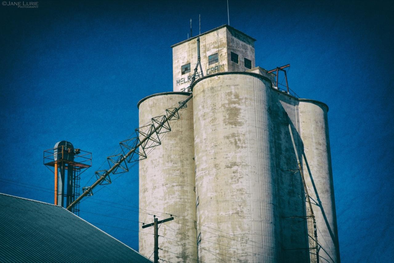 Grain Elevator, Silo, Architecture, Building