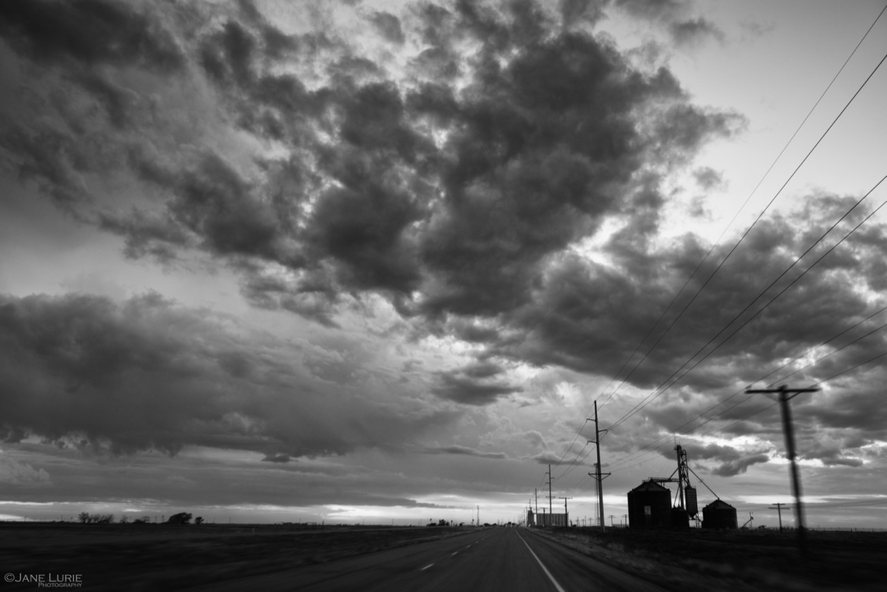 Clouds, Storm, Landscape, Black and White