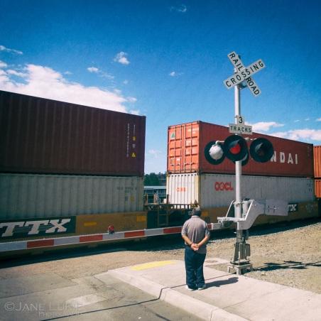 Freight Train, Tracks, Crossing