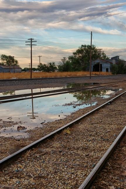 Train tracks, Reflections, Color, Landscape