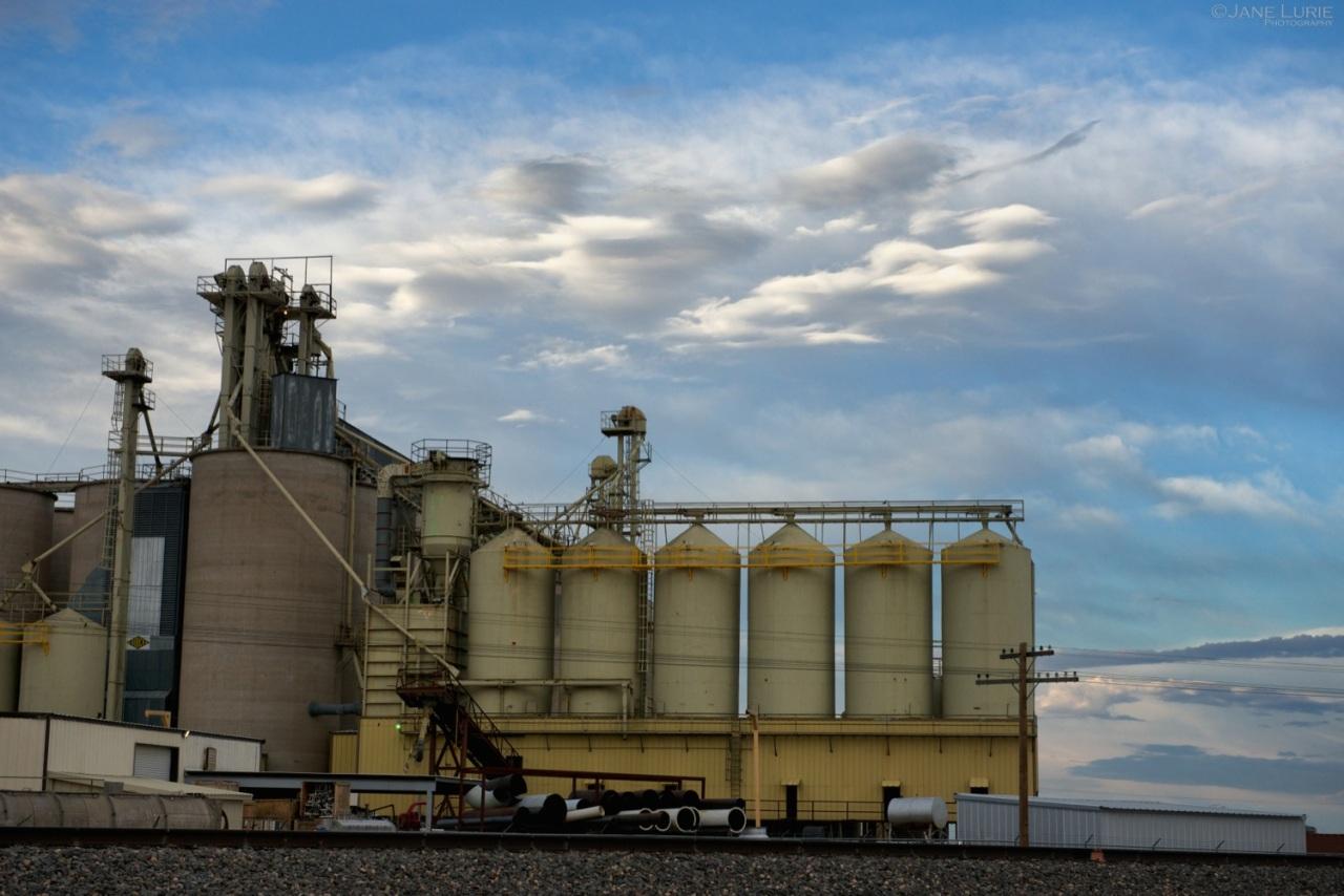 Architecture, Landscape, Agriculture, Grain Elevator