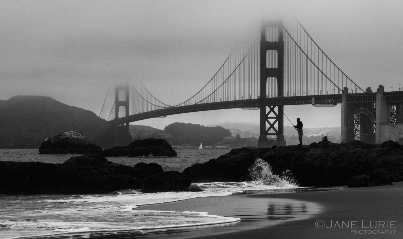 Golden Gate Bridge, San Francisco, Black and White