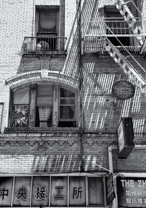 Fire Escape, San Francisco, Architecutre, Building, Black and White