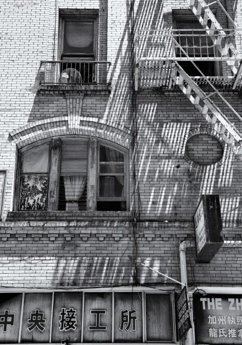 Fire Escape, San Francisco, Architecutre, Building, Black and White