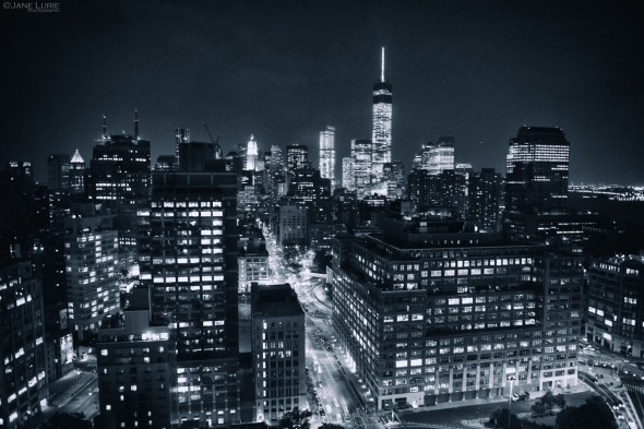 New York, Black and White, Landscape, City, Urban