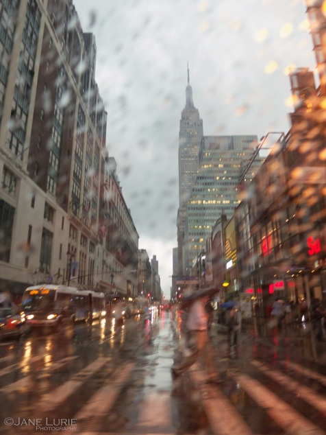 Rain, Weather, City, New York, Urban, Abstract