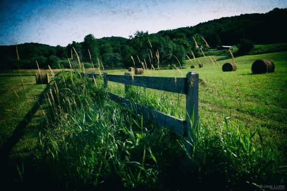 Hay Bales, Landscape, Vermont, Fence, Photography