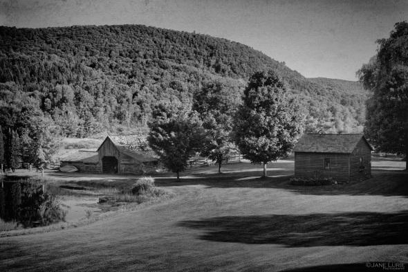 Farm, Vermont, Black and White, Landscape