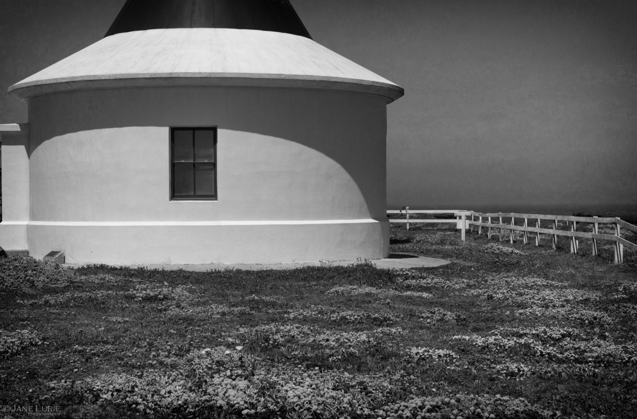 Lighthouse, Black and White, Landscape, California