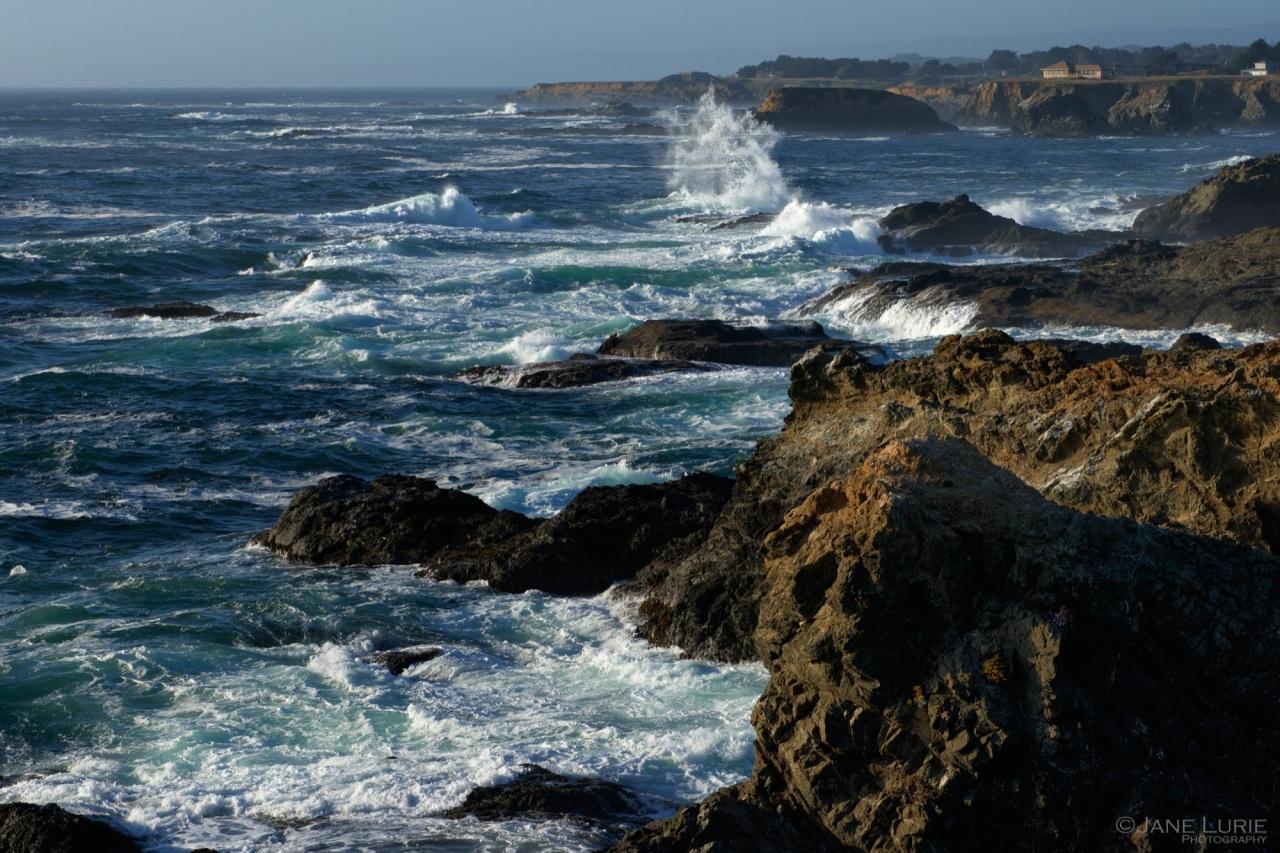 Ocean, Landscape, Mendocino, California, Nature