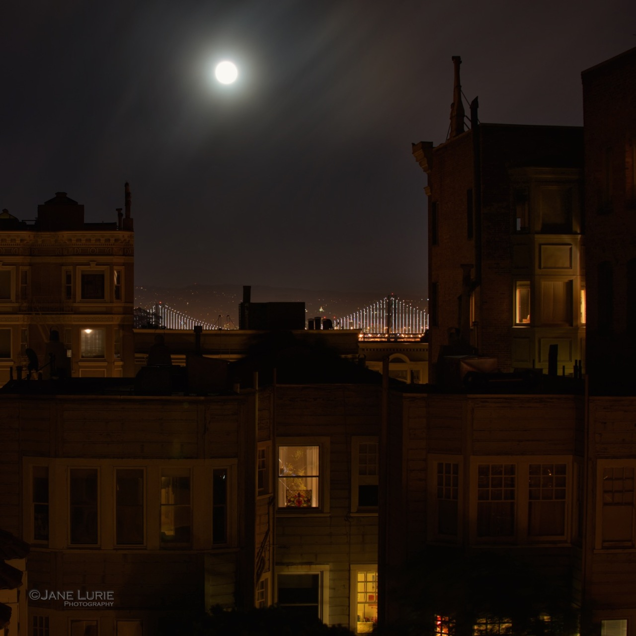 Night Photography, Architecture , Nikon, Moon