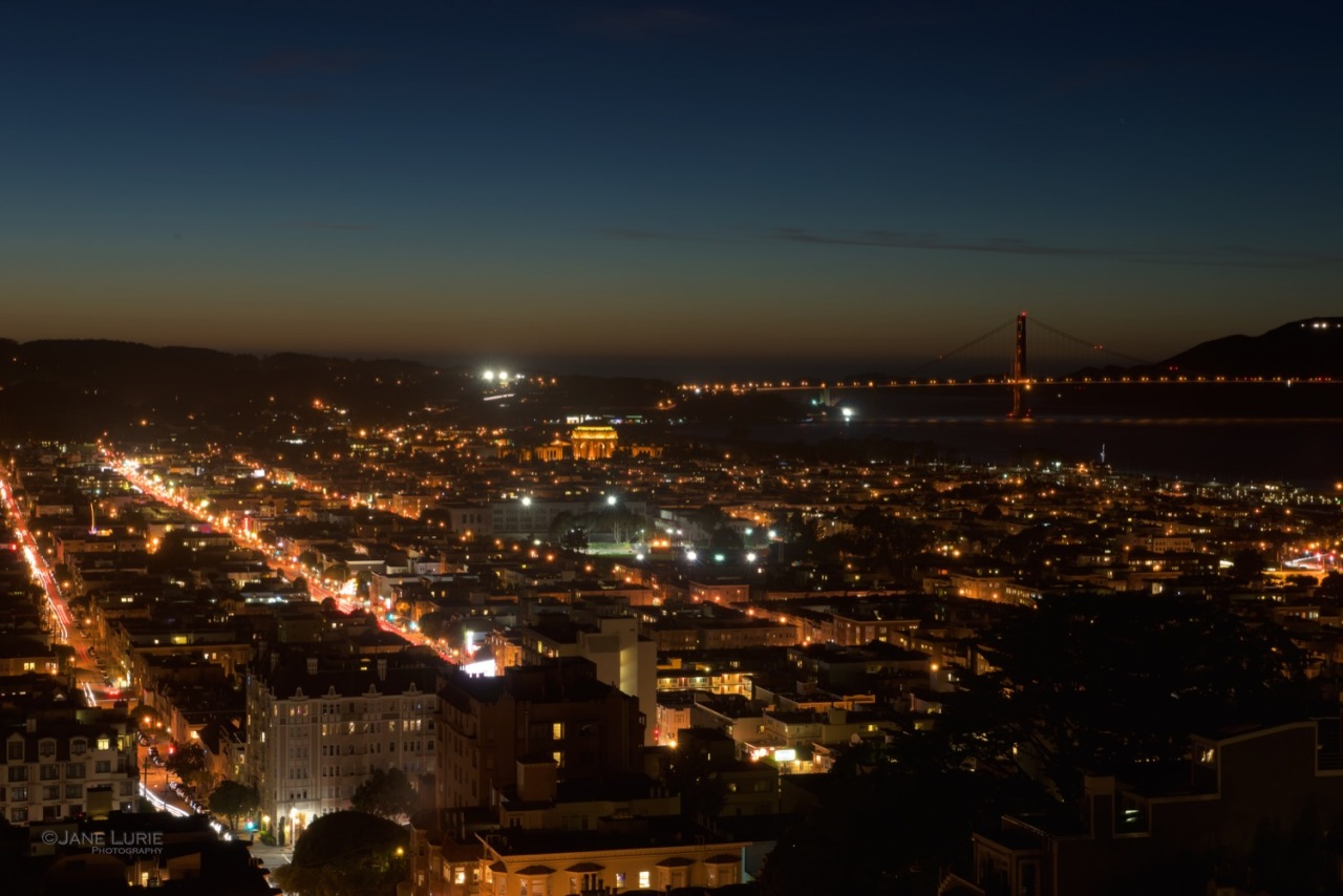 San Francisco, Landscape, Color, Night photography, Nikon