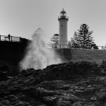 Australia, Lighthouse,black and white
