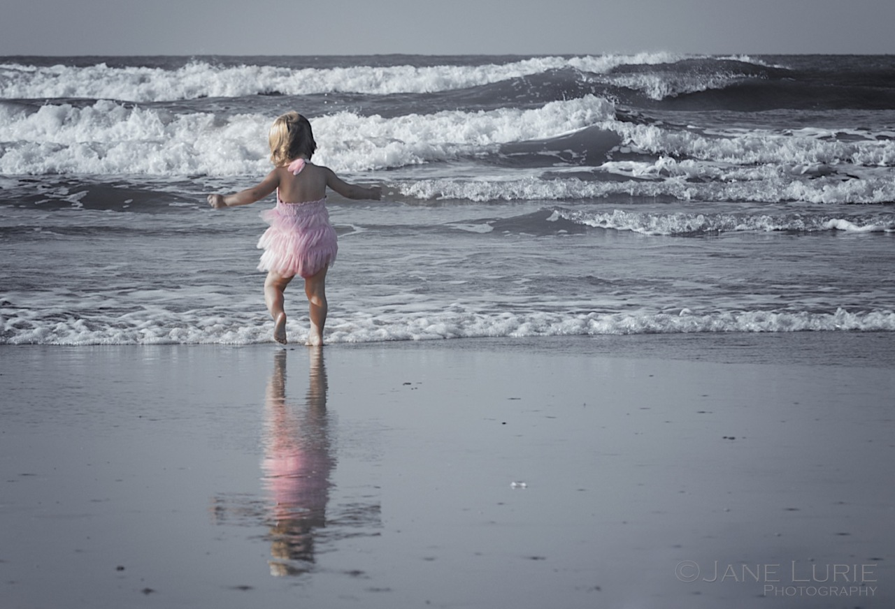 Portrait, Child, Beach, Ocean