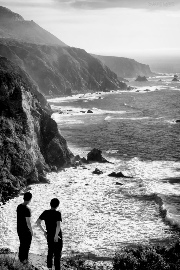 Landscape, Black and White, Big Sur, California