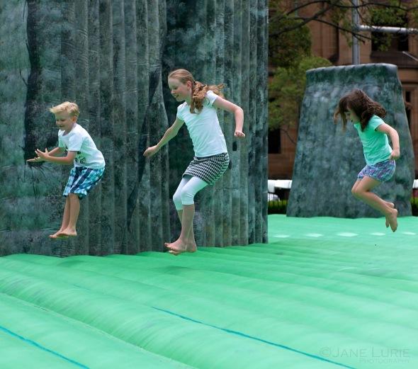 Portrait, Children, Play, Action