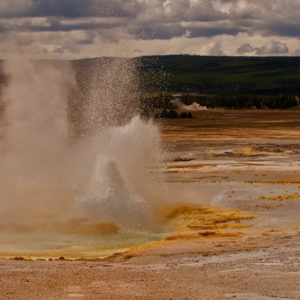 National Park, Landscape, Nature, Geyser