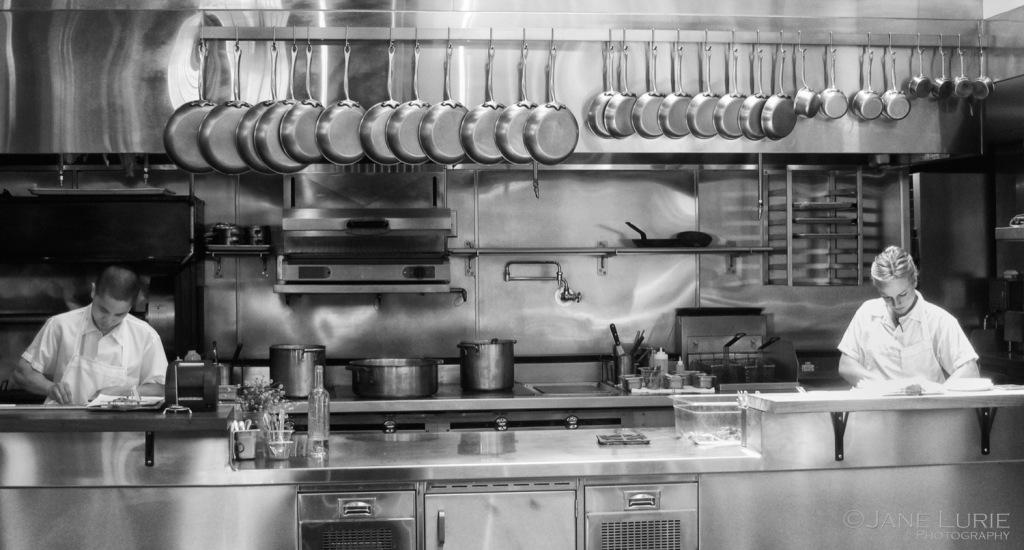 Restaurant, Urban, Chef, Monochrome, Black and White, Environmental Portraiture