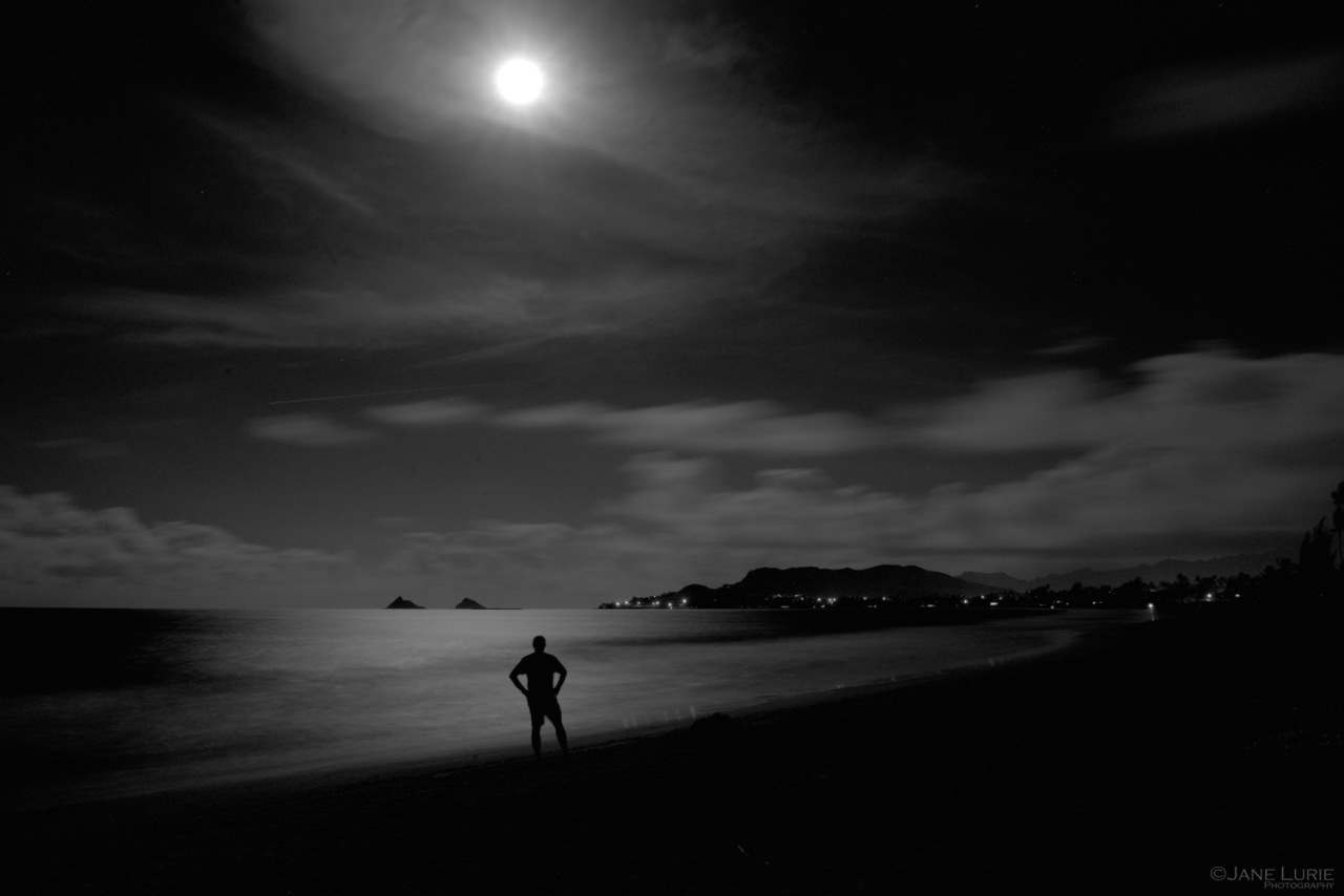 Landscape, Hawaii, Monochrome, Black and White, Nikon
