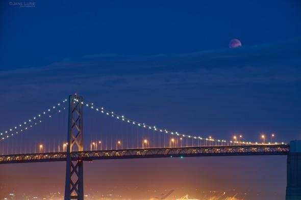 Landscape, Night Photography, San Francisco, California, Nikon, Bridge, Astronomy, Moon,