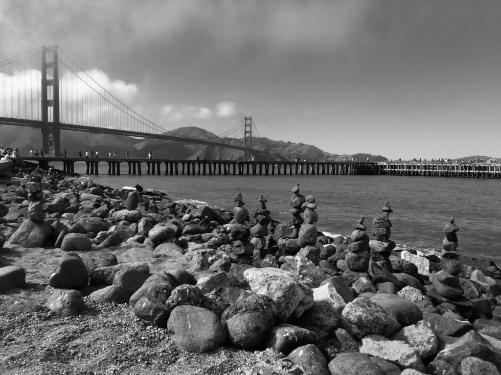 San Francisco, California, Golden Gate Bridge, City, Black and White, Monochrome, Photography, Urban, Architecture,