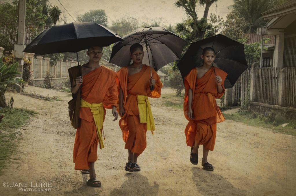 Threes, Trio, SE Asia, Portrait, Travel, Photography, Monk