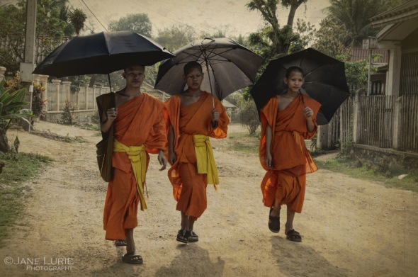 Threes, Trio, SE Asia, Portrait, Travel, Photography, Monk